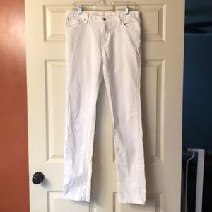 Levi's white high rise skinny jeans size 10